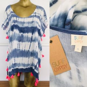 NWT GYPSY SURF Tie-Dye Cover-Up CAFTAN DRESS Large